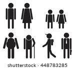set of stick men symbols. man ... | Shutterstock .eps vector #448783285