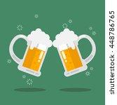 toasting glasses of beer....   Shutterstock .eps vector #448786765