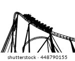 Rollercoaster In The Park On A...