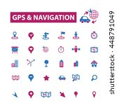 gps navigation icons | Shutterstock .eps vector #448791049