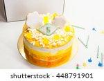 Birthday Yellow Homemade Cake...