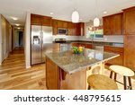 spacious kitchen room with bar  ...   Shutterstock . vector #448795615