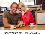 couple holding hands together...   Shutterstock . vector #448796389