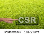 "pointing to ""csr"" button on... 