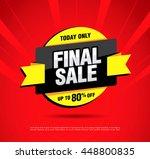 final sale banner. special... | Shutterstock .eps vector #448800835