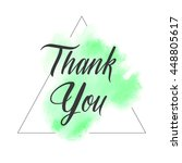 thank you text sign over... | Shutterstock .eps vector #448805617