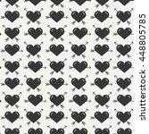 geometric romantic line...   Shutterstock .eps vector #448805785
