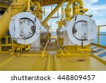 pig reciever at oil and gas...   Shutterstock . vector #448809457