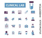 clinical lab icons | Shutterstock .eps vector #448809934