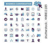 business conversation icons | Shutterstock .eps vector #448811185