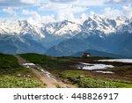 caucasian hut | Shutterstock . vector #448826917