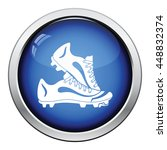 baseball boot icon. glossy... | Shutterstock .eps vector #448832374