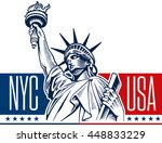 statue of liberty  nyc  usa... | Shutterstock .eps vector #448833229