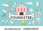 children kids energetic youth... | Shutterstock . vector #448843849