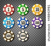 colorful casino chips on... | Shutterstock .eps vector #448843981