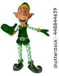 elf santa helper 3d illustration | Shutterstock . vector #448844659
