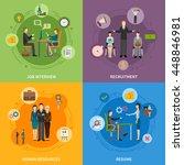 recruitment hr people 2x2 flat... | Shutterstock .eps vector #448846981