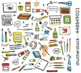 hand drawn doodle art and craft ...