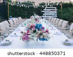 wedding table that decorated... | Shutterstock . vector #448850371