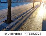 shadows of people walking in a...   Shutterstock . vector #448853329