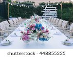 wedding table that decorated... | Shutterstock . vector #448855225