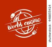 vector logo for restaurant cafe.... | Shutterstock .eps vector #448855414