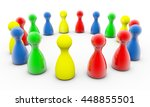 3d rendering game figure circle | Shutterstock . vector #448855501