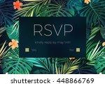 wedding invitation or card... | Shutterstock .eps vector #448866769