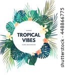 bright hawaiian design with... | Shutterstock .eps vector #448866775