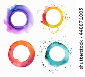 a set of vector watercolor... | Shutterstock .eps vector #448871005