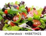 fresh green salad.  | Shutterstock . vector #448875421