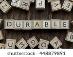the word of durable on building ... | Shutterstock . vector #448879891