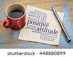 positive attitude word cloud  ... | Shutterstock . vector #448880899