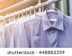 blue shirt wait for dry after... | Shutterstock . vector #448883359