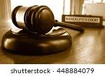 judge's legal gavel in front of ... | Shutterstock . vector #448884079