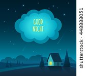 vector illustration of night... | Shutterstock .eps vector #448888051