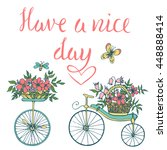 vintage typography card with... | Shutterstock .eps vector #448888414