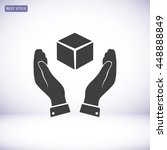 cube icon   Shutterstock .eps vector #448888849
