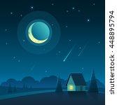 vector illustration of night...   Shutterstock .eps vector #448895794