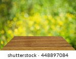 wood table top on bokeh nature... | Shutterstock . vector #448897084