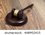 wooden judge gavel and