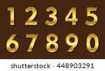 set of metallic numbers.vector... | Shutterstock .eps vector #448903291