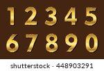 set of metallic numbers.vector... | Shutterstock .eps vector #448903291