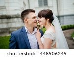 bride and groom at wedding day... | Shutterstock . vector #448906249