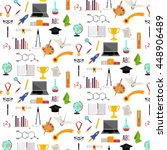 vector pattern with signs... | Shutterstock .eps vector #448906489