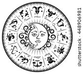 zodiac signs  horoscope  vector ... | Shutterstock .eps vector #448906981