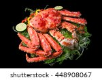 top view of red king crab... | Shutterstock . vector #448908067