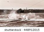 wakeboarder sportsman in the... | Shutterstock . vector #448912015