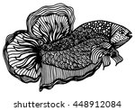 zentangle stylized fish. hand... | Shutterstock .eps vector #448912084