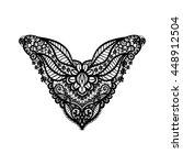 vector floral neckline design... | Shutterstock .eps vector #448912504